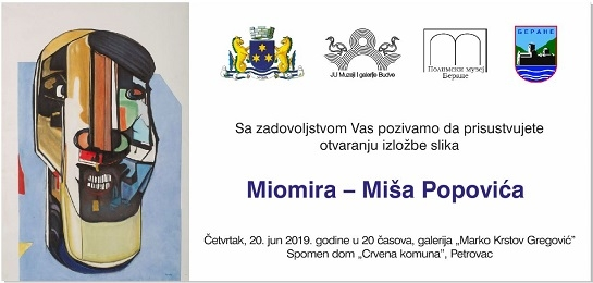 Otvaranje izložbe Miomira Miše Popovića