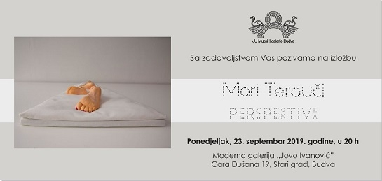 Najava otvaranja izložbe skulptura i instalacija umjetnice Mari Terauchi