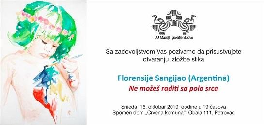 Otvaranje samostalne izložbe umjetnice Florencie Sangiao u Petrovcu