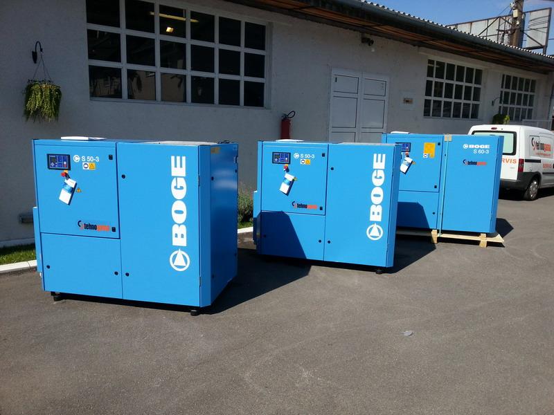 Tehnogama doo Boge bešumni kompresori za vazduh vijčani kompresori S 50-3