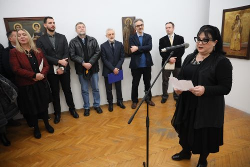 Mr Lucija Đurašković na izložbi Ikone Paštrovića i Budve 2020 Beograd Photo Bojan Ćirković