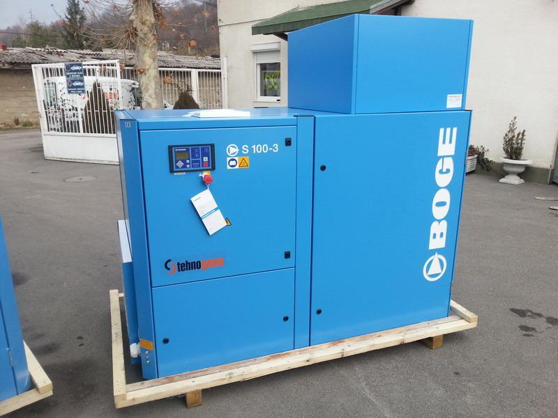Tehnogama doo Vijčani kompresor za vazduh Boge Kompressoren  S 100-3-75kw