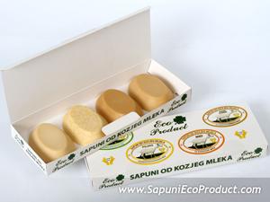 Eco Product komplet četiri sapuna od kozjeg mleka