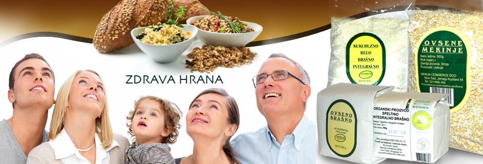 Hemija Commerce doo Zdrava hrana Ovseno brašno, kukuruzno belo brašno integralno, organski proizvod speltino integralno brašno, ovsene mekinje