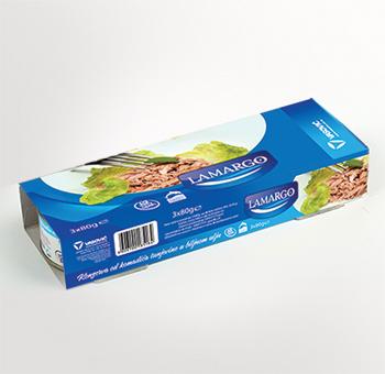 Vasović doo Čačak Lamargo pakovanje od po tri konzerve komadića tunjevine od 80g