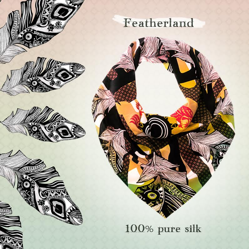 Laniakea Beograd Fetherland 100% pure silk