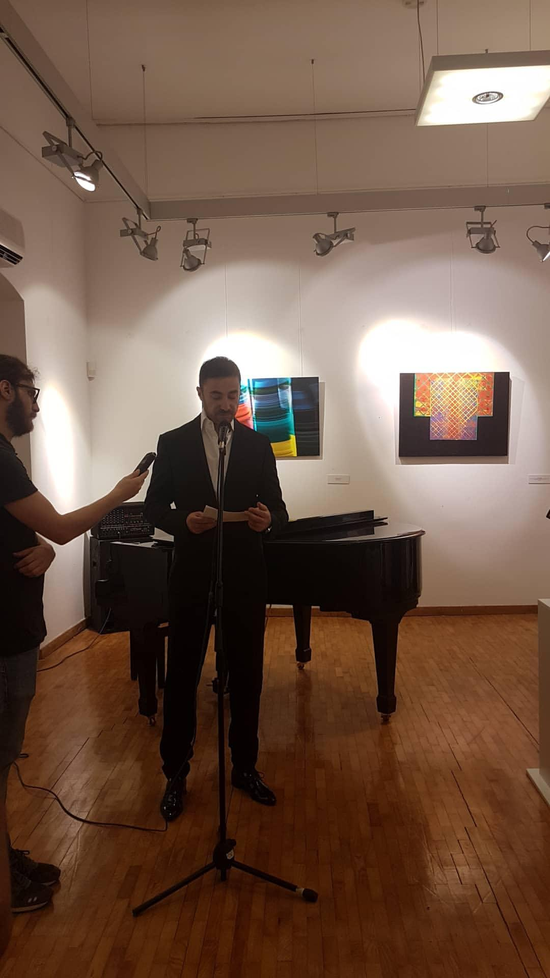 ministar kulture crne gore gospodin aleksandar bogdanovic na otvaranju izlozbe nova realnost budva 2019