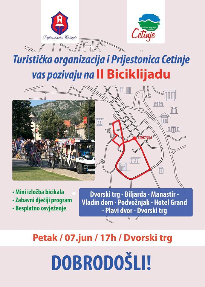 plakat 2. biciklijada 2019 cetinje