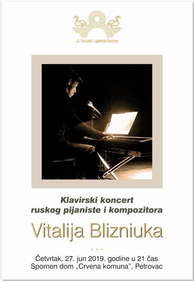 plakat koncert vitalij blizniuk 2019 petrovac