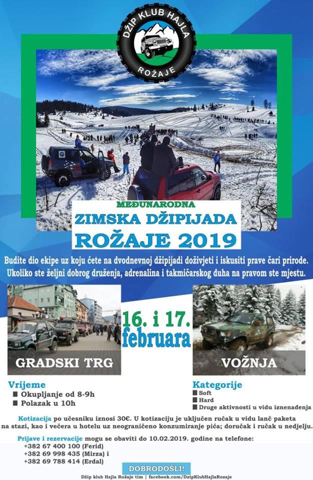 plakat medjunarodna zimska dzipijada rozaje 2019