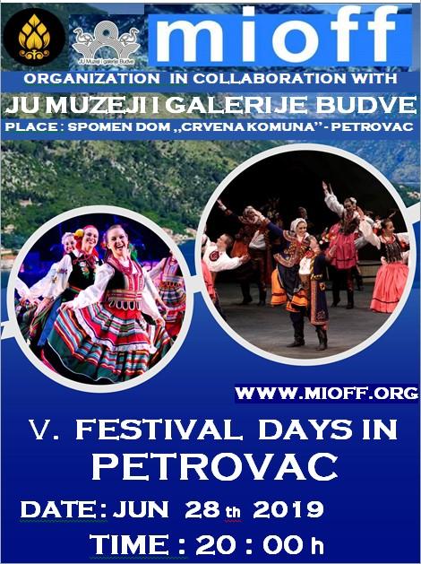 plakat medunarodni internacionalni folklorni festival 2019 petrovac