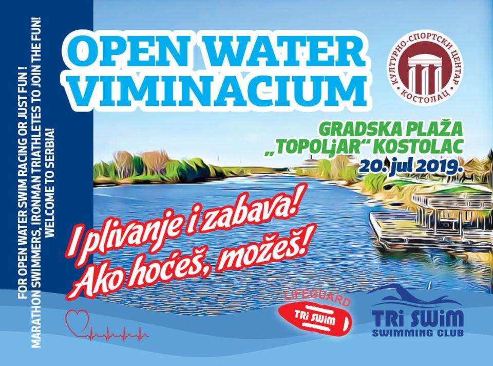 plakat open water viminacijum 2019 gradska plaza topoljar kostolac