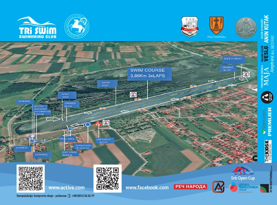 plakat open water viminacijum 2019 kostolac mapa plivacke staze