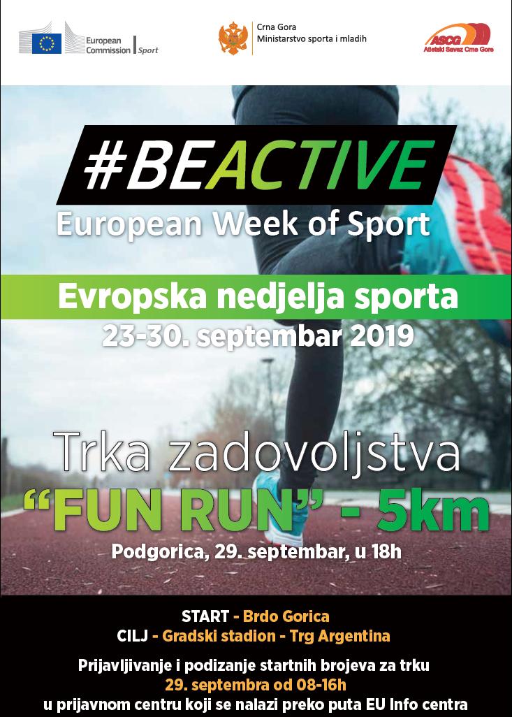 plakat trka zadovoljstva fun run 2019 podgorica