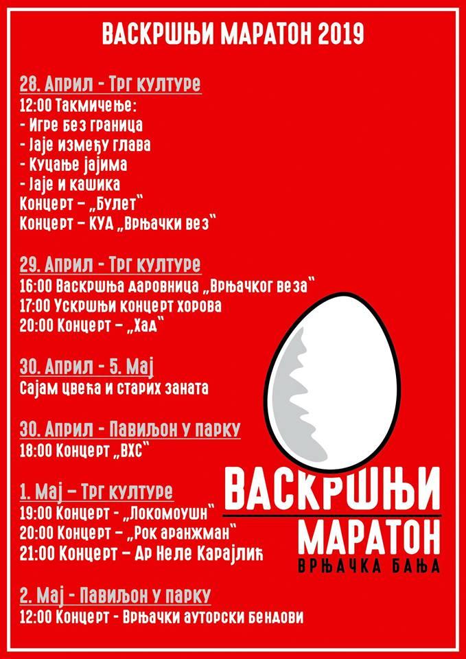 plakat vaskrsnji maraton 2019 vrnjacka banja