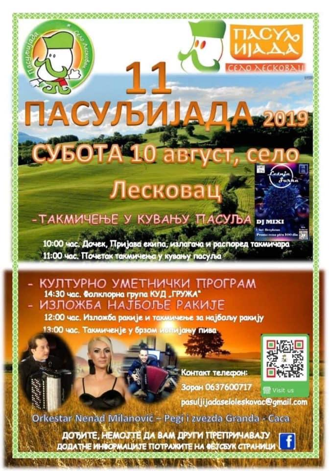 plakat_11_pasuljijada_2019_selo_leskovac