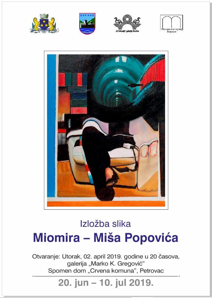 plakat_izlozba_miomir_miso_popovic_2019_galerija-marko-krstov-gregovic-spomen-dom-crvena-komuna-petrovac