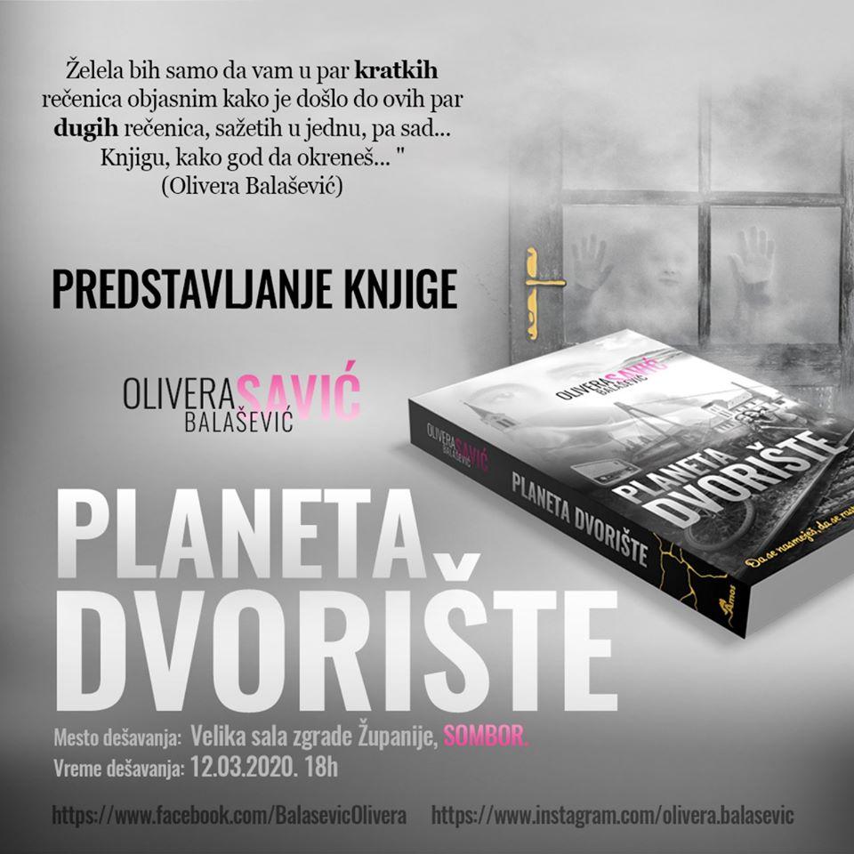 plakat_promocija_knjige olivere_balasevic_planeta_dvoriste_2020_sombor