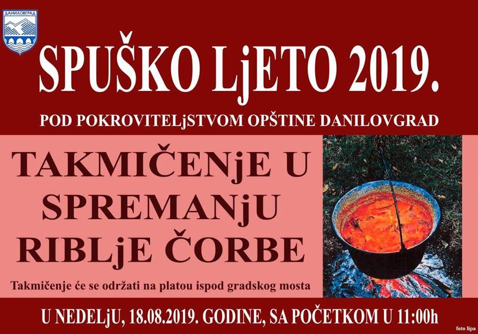 plakat_takmicenje_u_spremanju_riblje_corbe_2019_danilovgrad_spusko_ljeto