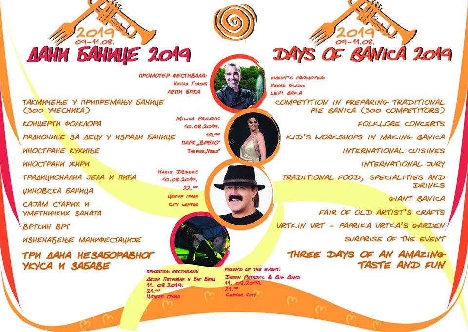 program dani banice 2019 bela palanka