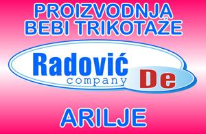 Radović De Company doo Arilje Proizvodnja bebi trikotaže, bebi odeće i opreme