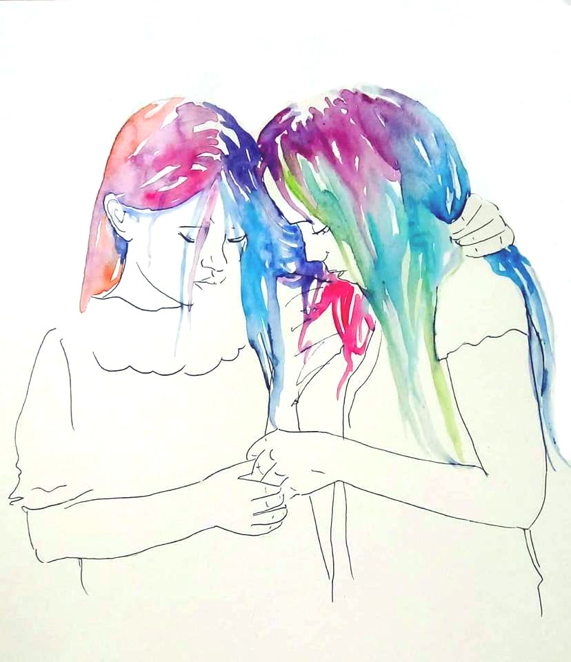 watercolor_and_ink_sisterhood_florensija_sangijao_2018