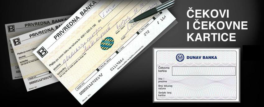 Čekovi i čekovne kartice